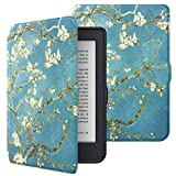 MoKo Funda Compatible con Kobo Nia 6-Inch 2020, Ultra Delgada Ligera Smart-Shell Soporte Cover Case Compatible con Kobo Nia 6' 2020 Tableta, Bloom de Albaricoque