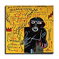 Basquiat ジャン・ミシェル・バスキアポスター、グラフィティアールヌーボーアートパネル絵画フォトフレーム印刷ダンフレーム印象派ヨーロッパ壁壁紙壁画美術-53 (30x30cm,ポスター)