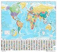 GB eye 40 x 50 cm 2012 World Map Mini Posters, Multi-Colour by GB Eye Limited