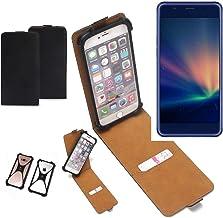 K-S-Trade Funda Flipstyle para Hisense A2 Pro Estuche Cubierta Flipcase Tapa para Smartphone Protector Cámara Parachoques Bumper Integrado PU, Negro (1x)