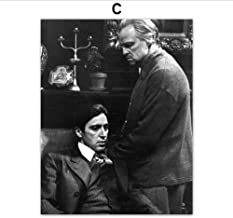 waitingposter - Wall Art Canvas Painting Black White Posters And Prints Godfather Wall Pictures Home Decor,C B20x28inch(50x7cm)