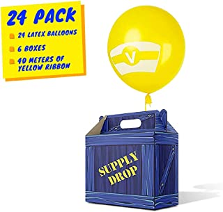 Gamer Birthday Party Supplies - Party Favor Boxes - Birthday Party Favors for Kids - Use as Supply Drop Box or Goodie Bags for Party Pack - Video Game Party Favors - Battle Royale Party Supplies (24