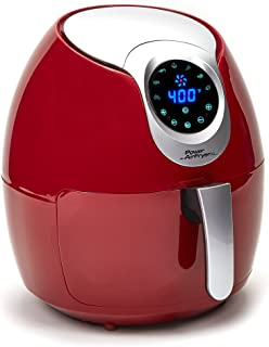 Power AirFryer XL PAFR-34 Air Fryer oven, 3.4 QT, Red