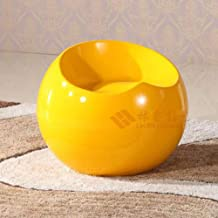 LONGren Modern Fiberglass Stool Ball Globe Lounge Chair Contemporary Backless Office Chair for Tea Time Chat, Bussiness Co...