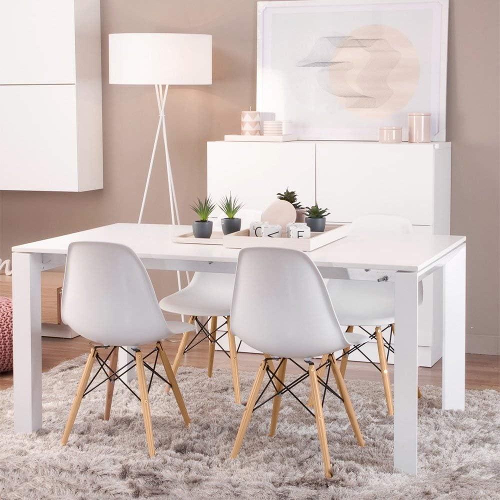 Chaise de salle à manger en plastique décontractée simple et moderne (Color : Marron) Blue