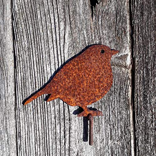 Snakell 1/3 Stücke Vogel Art Gartenschilder Gartenfigur Metall Vögel Deko Gartendeko Gartenstatuen Gartenstecker, Outdoor Garten Hinterhof Rasen Pfähle Metall Vogel Yard Dekor Geschenk