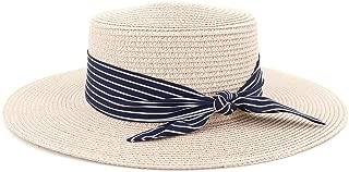 LiWen Zheng Women Summer Beach Sun Cap 2019 New Brand Flat Top Straw Hat Men Boater Hats Bone Feminino
