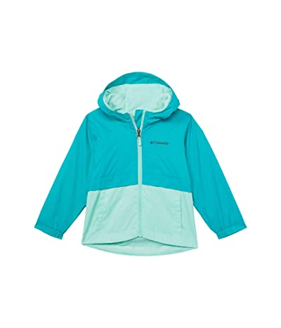 Columbia Kids Rain-Zilla Jacket (Toddler) (Tropic Water/Mint Cay) Girl