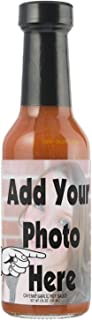 CUSTOM Label Hot Sauces with your Photo or Logo as a private label or PERSONALIZED Gift (Cheyenne Peppers Med to High Heat)