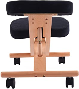 Sedia inginocchiatoio PRO11, ergonomica, sedia correttiva per la postura del ginocchio. Black