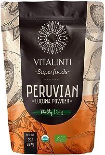 VITALINTI PERUVIAN LUCUMA POWDER USDA ORGANIC SUPERFOODS NATURALLY SWEET, SODIUM FREE, CHOLESTEROL FREE Iron, Phosphorus, ...