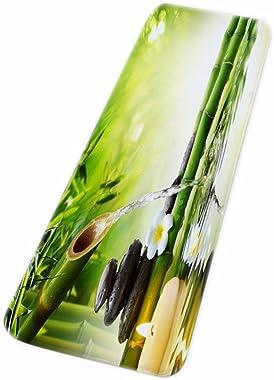 A.Monamour Yoga Zen Idée De Méditation Bambou Vert Paysage Naturel Eco-Friendly Impression Flanelle Antidérapant Tapis De Bai