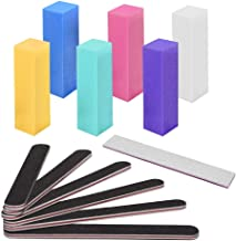 Nail File and Buffer, Tupelo Professional Manicure Tools Kit 6pcs Rectangular Art Care..
