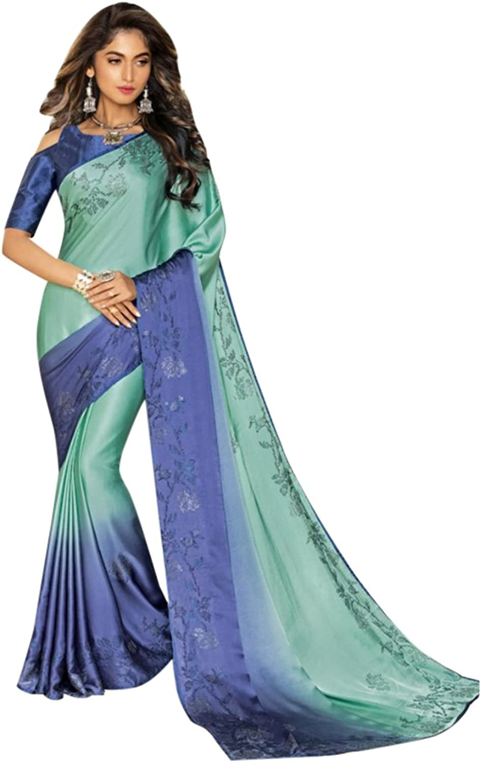 Designer Bollywood Saree Sari for Women Latest Indian Ethnic Collection Blouse Party Wear Festive Ceremony 2553 13