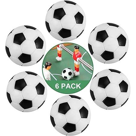 ZAWTR Calcio Balilla, 6 Pezzi Palline Calcio Balilla Mini 32mm, Palline per Calcio Balilla Profesisonale per Bambini Adulti da Tavolo Biliardino Gioco Accessorio (Bianco & Nero)