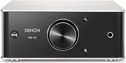 Denon PMA-60 2.0canales Hogar Inalámbrico y alámbrico Negro, Plata - Amplificador de Audio (2.0 Canales, 50 W, 0,004%, 110 dB, 50 W, 25 W)