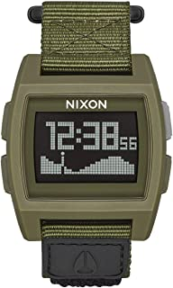 Base Tide Nylon A1169 100m Water Resistant Men's Digital Surf Watch (38mm Watch Face, 22mm Nylon Band)