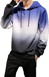Men's Hoodies Pullover Sweater casual long sleeve sports trend Gradient oversize top fashion coat