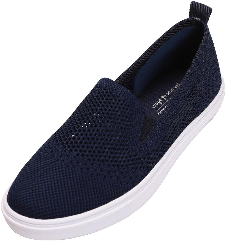 Feversole Women's Flyknit Fashion Flat shoes