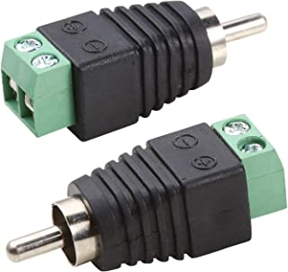 UHPPOTE Phono RCA Male Plug to AV Screw Terminal for CCTV AV Adapter Jack Balun (Pack of 100)
