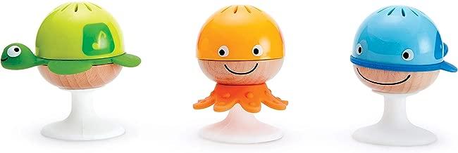 Hape Put-Stay Rattle Set   Three Sea Animal Suction Rattle Toys, Baby Educational Toy Set