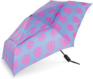 WindPro Vented Fashion Auto Open & Close Compact Wind Umbrella: Edith Pink