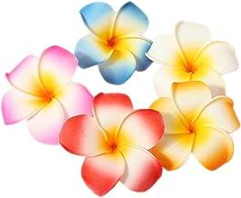 10 Pcs Hair Clips 7cm Hawaiian Wedding Party Beach Flower Hairclip Headpieces