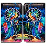 Galaxy A10e Case,Bcov Dream Catcher Wolf Sky Wallet Leather Cover Case for Samsung Galaxy A10e