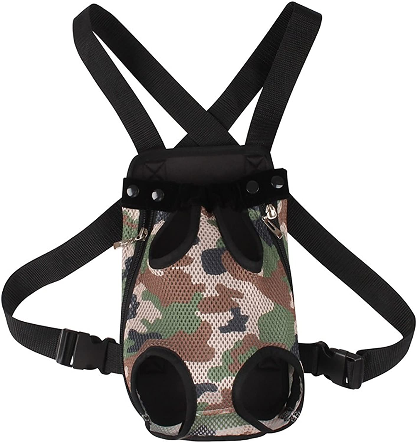 Pet Backpack,Pet Camouflage Mesh Chest Bag Out of Carrying Cat Dog Pet Bag Outpack Carrying Case Pet Supplies 4Size