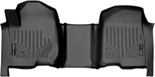 SMARTLINER Custom Fit Floor Mats 1st Row 1 Piece Liner Black for 2019-2021 Silverado/Sierra 1500 Crew Cab with 1st Row Bench Seat