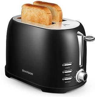SHARDOR Grille Pain Toaster Cuisson Uniforme 2 Tranches Acier Inoxydable Fentes Extra Larges 7 Niveaux de Brunissage Fonct...