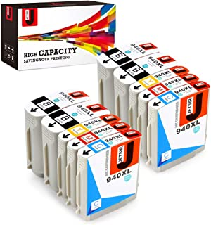 JetSir Compatible Ink Cartridge Replacement for HP 940 940xl(4 Black,2 Cyan,2 Magenta,2 Yellow, 10-Pack),Work on HP Officejet Pro 8000 8500 8500A 8500A Plus Printer
