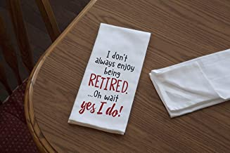 product image for Imagine Design Relatively Funny I Don't Always Enjoy, Heavy Weight 100% Cotton Kitchen Towel, Red/Black/White
