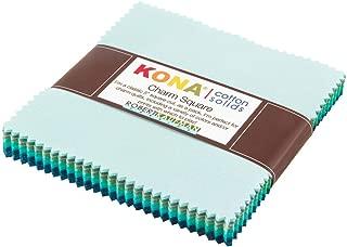 Studio RK Kona Cotton Solids Midnight Oasis Charm Squares 42 5-inch Squares Charm Pack Robert Kaufman Fabrics CHS-353-42