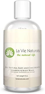 All Natural Baby and Children's Shampoo and Body Wash, 73% certified organic by volume, no chemicals, no sulfates, no parabéns, no phthalates, no mineral oil (pack of 2)