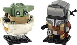 LEGO BrickHeadz Star Wars The Mandalorian & The Child 75317 Building Kit, New 2020 (295 Pieces)