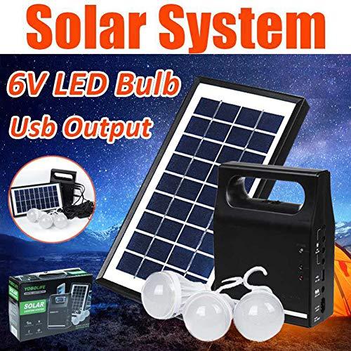 LAMP-XUE Solar Power Panel Generator Kit 6V USB Charger Home Solar Lighting System + 3 LED Lampen Licht voor Outdoor Lighting Telefoon Opladen
