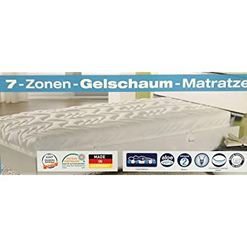 Amazon De F A N 7 Zonen Gelschaum Matratze Aloe Vera H2 Mehrschichtmatratze 90 X 200 Cm Ca 18 Cm