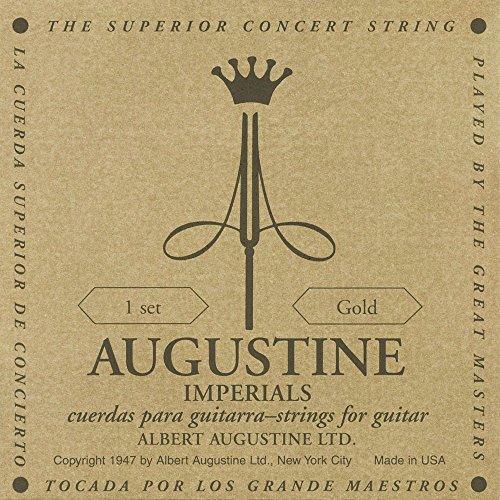 Augustine Klassik Gitarrensaiten Imperials Label Satz Gold High Tension/Basssaiten Light Tension