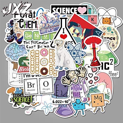 Chemische experimenten vergelijking hersenen wetenschap Laboratorium Stickers voor laptop skateboard bagage school Stickers 50 stks/pak