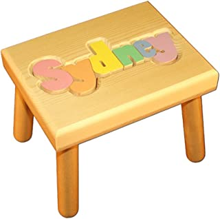 childrens wooden stools engraved