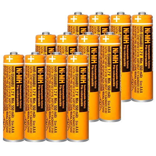 12PCS NI-MH AAA Rechargeable Battery for Panasonic HHR-55AAABU 1.2V Replacement Battery