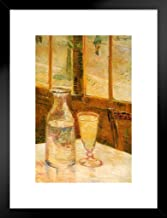 Poster Foundry Vincent Van Gogh Still Life with Absinthe 1887 Impressionist Art Matted Framed Wall Art Print 20x26