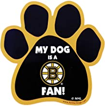 product image for All Star Dogs NHL Boston Bruins Paw-Shaped Magnet, One Size, Black