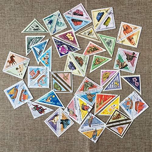 JCNL 50 Pezzi/Pacco a Forma di Tri-Angolo Tutti Diversi da Molti Paesi Nessuna Ripetizione inutilizzata con francobolli postali per Collezionare S