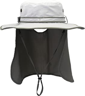 Mens Sun Hat with Neck Flap Quick Dry UV Protection Caps Fishing Hat