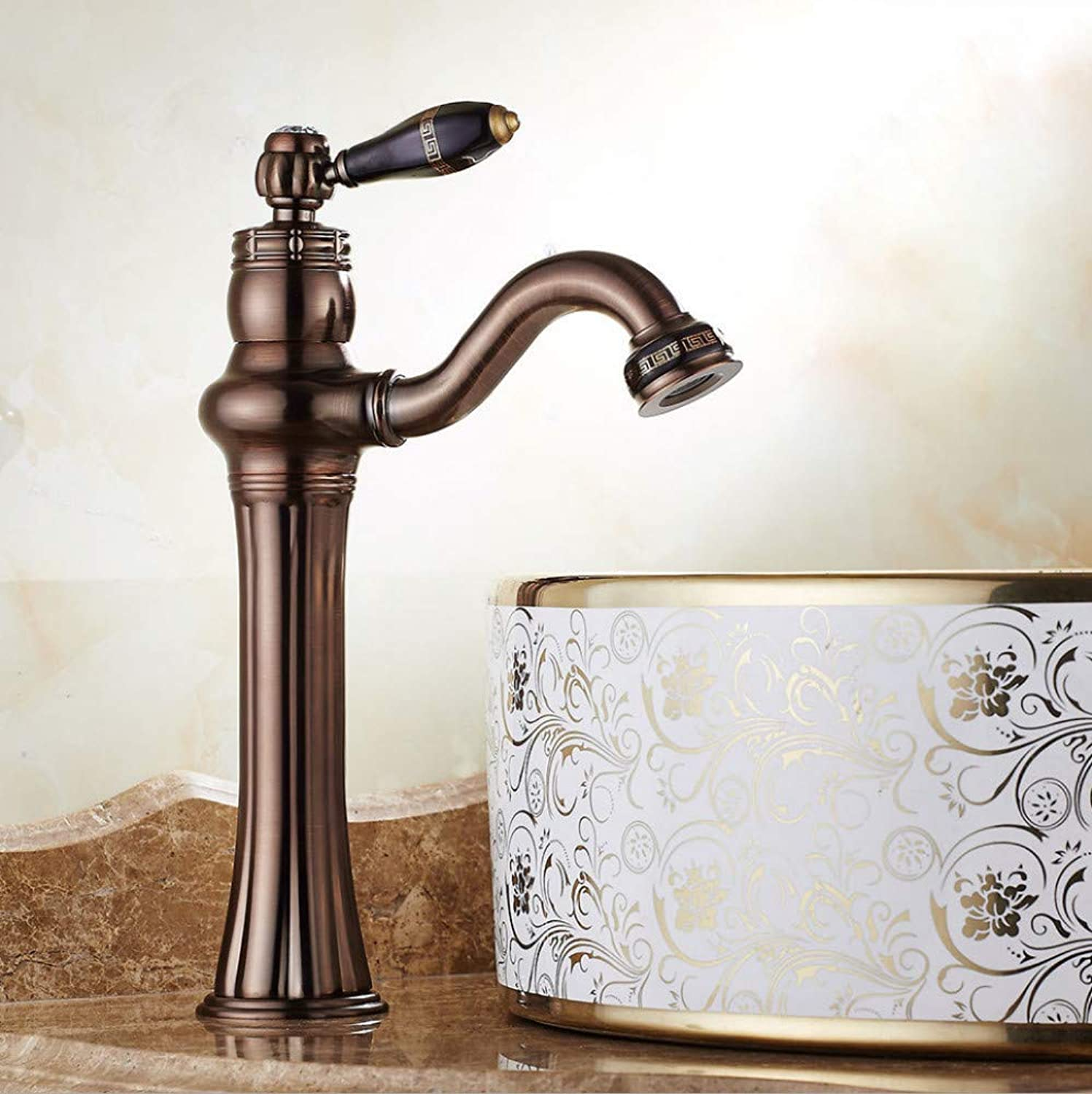 Faucet Basin European Faucet Above Counter Basin hot and Cold Faucet Bathroom wash Basin redating Faucet Antique