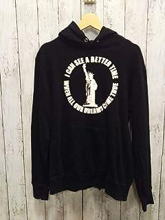 LOUNGE LIZARD ラウンジリザード プルオーバーパーカー フーディ スウェット地 タオル起毛 ブラック 黒 メンズMサイズ