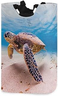 Tortue de mer verte hawaïenne panier à linge panier seau océan animal pliable sac à vêtements sale poubelle à laver jouet ...
