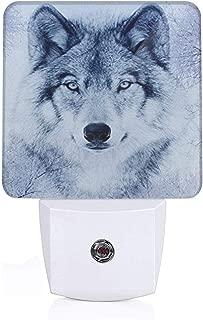 Snow Wolf Plug-in LED Night Light Lamp with Light Sensor, Auto On/Off, Energy Efficient